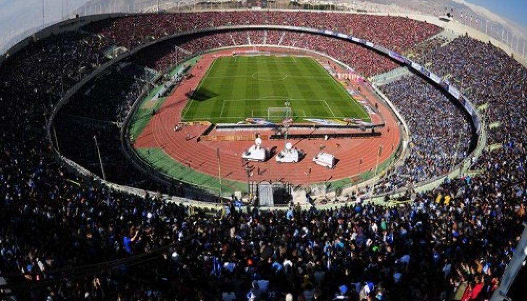 Esteghlal FC para celebrar el campeonato de IPL en el Estadio Azadi