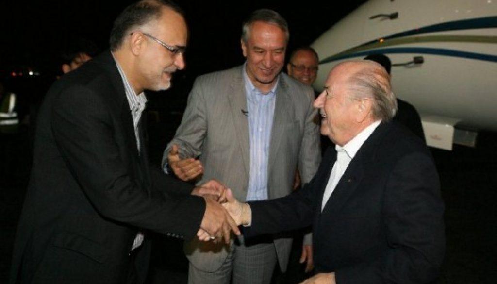 Sepp Blatter visita Teherán inaugura, por primera conferencia internacional
