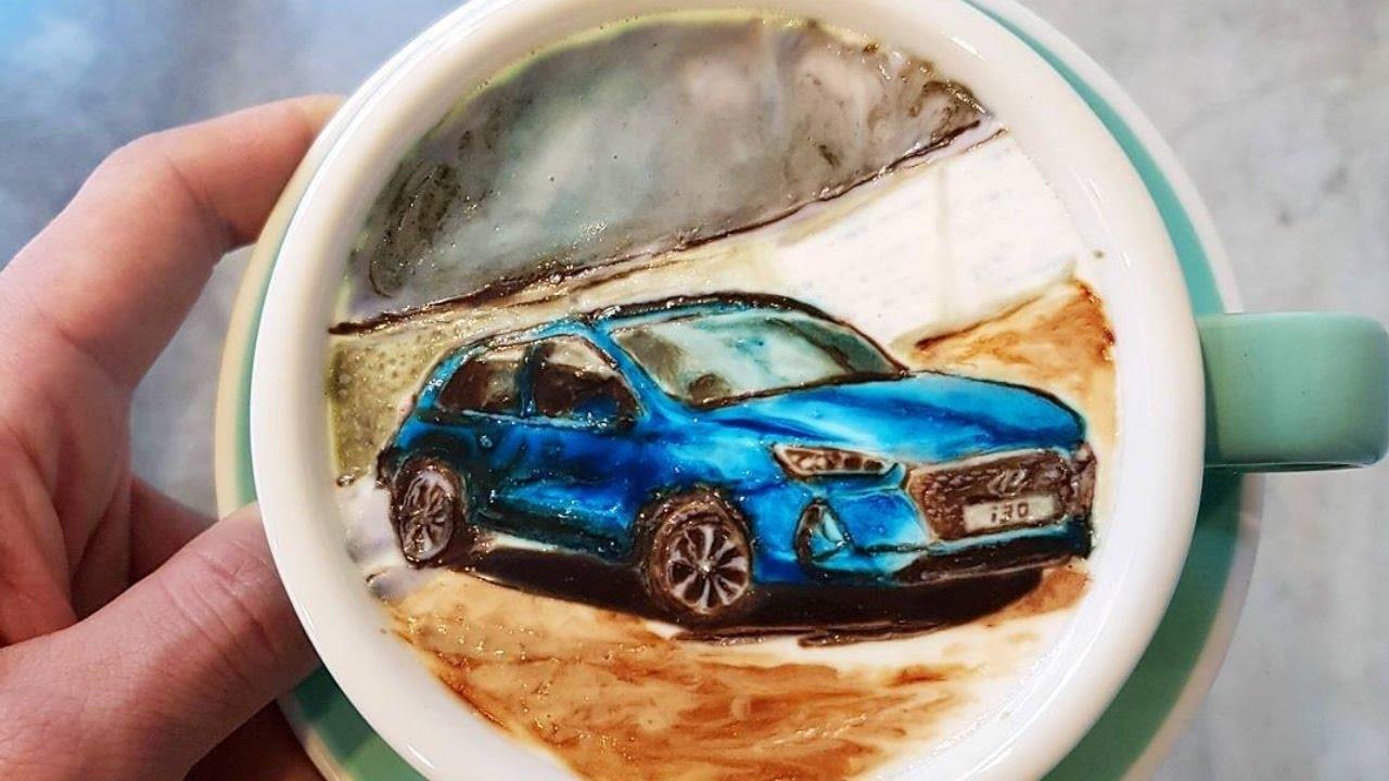 Barista de Seúl Crea Obras de Arte de Café
