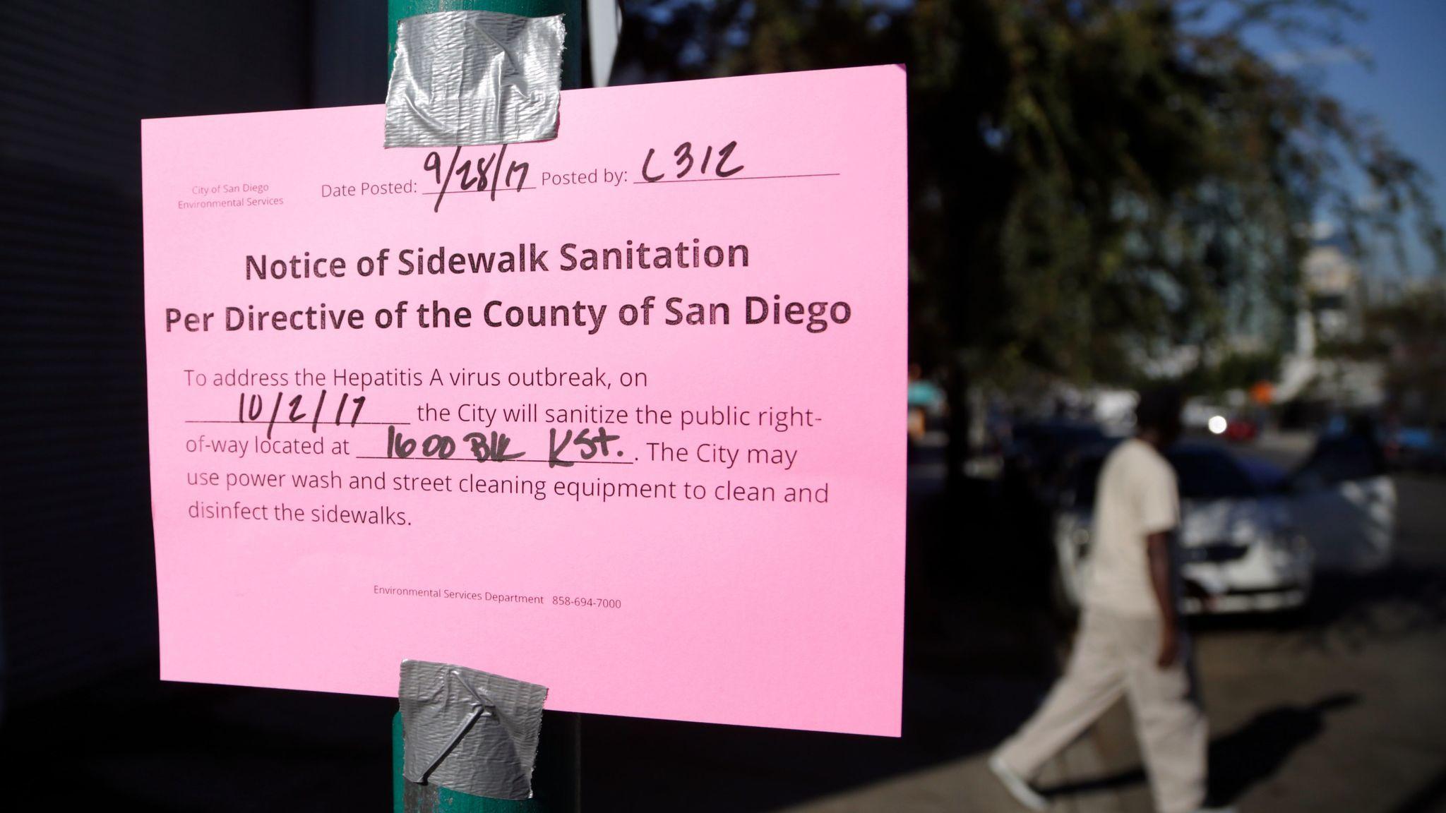 Una epidemia mortal de hepatitis A en California podría durar años