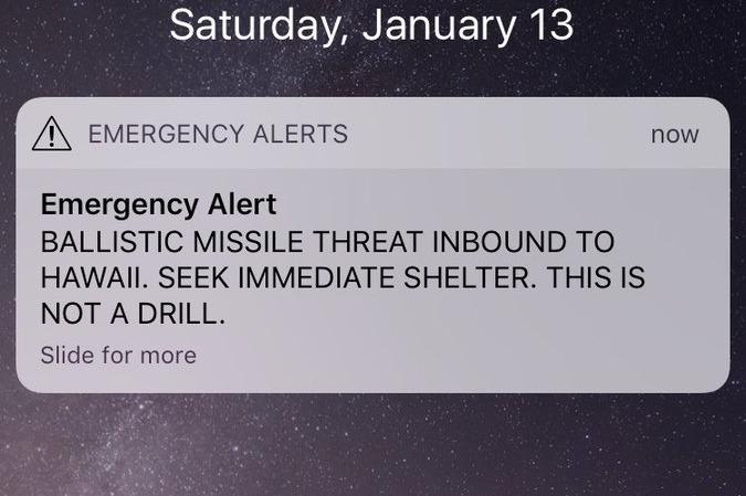 El Error Detrás de la Alarma Falsa de Emergencia en Hawái